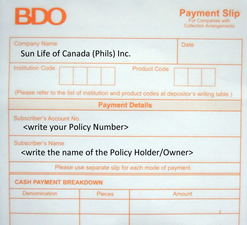 FREQUENTLY ASKED QUESTIONS ON SUN LIFE PAYMENTS (SUN LIFE